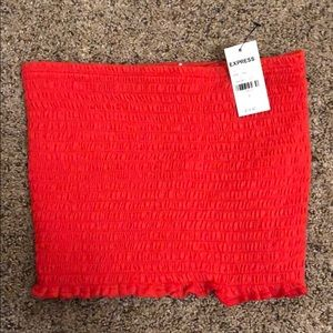 Express Tops - EXPRESS RED TUBE TOP